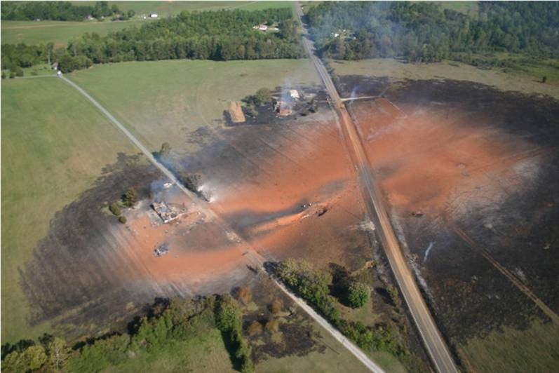 Hogedruk gasleiding explosie Duitsland